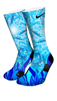 Icy Blue Custom Elite Socks - CustomizeEliteSocks.com - 4