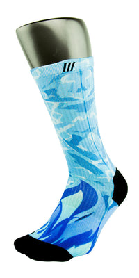 Icy Blue CES Custom Socks - CustomizeEliteSocks.com - 3