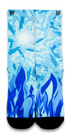 Icy Blue CES Custom Socks - CustomizeEliteSocks.com - 1