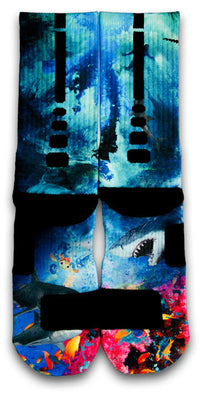 Into The Deep Custom Elite Socks - CustomizeEliteSocks.com - 2