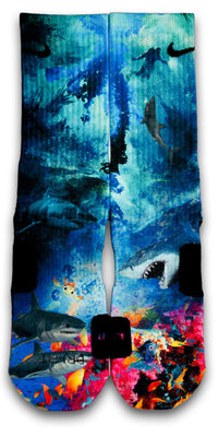 Into The Deep Custom Elite Socks - CustomizeEliteSocks.com - 1