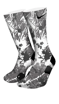 Lung Cancer A Splash of White Custom Elite Socks - CustomizeEliteSocks.com - 4