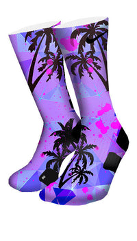 Miami Palms Custom Elite Socks - CustomizeEliteSocks.com - 4