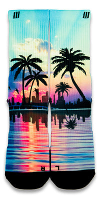 Miami 305s CES Custom Socks - CustomizeEliteSocks.com - 1