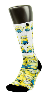 Minions CES Custom Socks - CustomizeEliteSocks.com - 3