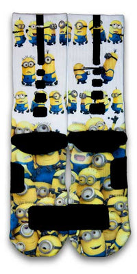 Minions Custom Elite Socks - CustomizeEliteSocks.com - 2