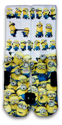 Minions Custom Elite Socks - CustomizeEliteSocks.com - 1