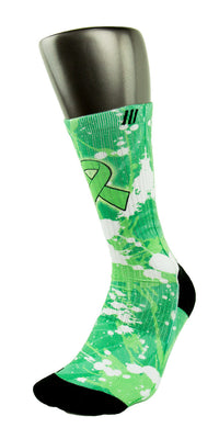 Non Hodgkin's Lymphoma CES Custom Socks - CustomizeEliteSocks.com - 3