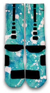 Ovarian Cancer A Splash of Teal Custom Elite Socks - CustomizeEliteSocks.com - 3