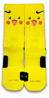 Pikachu Custom Elite Socks - CustomizeEliteSocks.com - 1
