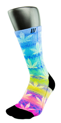 Rainbow Kush CES Custom Socks - CustomizeEliteSocks.com - 3