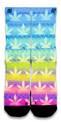Rainbow Kush CES Custom Socks - CustomizeEliteSocks.com - 1