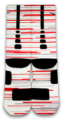 Retro 3 Red White Fire Custom Elite Socks - CustomizeEliteSocks.com - 3