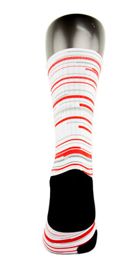 Retro 3 Red White Fire CES Custom Socks - CustomizeEliteSocks.com - 4