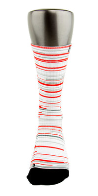 Retro 3 Red White Fire CES Custom Socks - CustomizeEliteSocks.com - 2