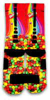 Skittles Custom Elite Socks - CustomizeEliteSocks.com - 2
