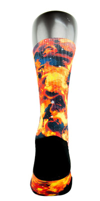 Solar Flares CES Custom Socks - CustomizeEliteSocks.com - 4
