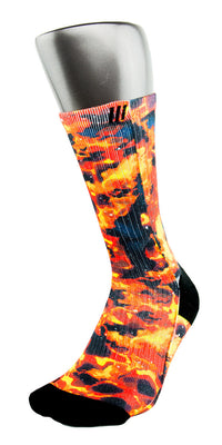 Solar Flares CES Custom Socks - CustomizeEliteSocks.com - 3