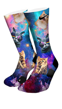Space Kittens Custom Elite Socks - CustomizeEliteSocks.com - 4