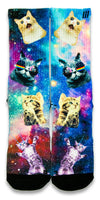 Space Kittens CES Custom Socks - CustomizeEliteSocks.com - 1