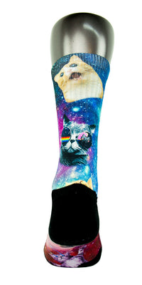 Space Kittens CES Custom Socks - CustomizeEliteSocks.com - 4