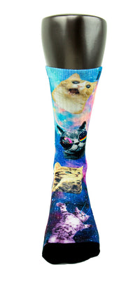 Space Kittens CES Custom Socks - CustomizeEliteSocks.com - 2