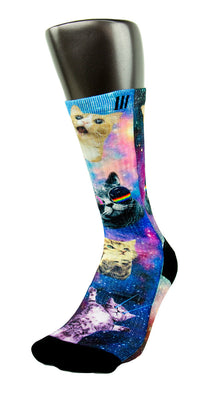 Space Kittens CES Custom Socks - CustomizeEliteSocks.com - 3
