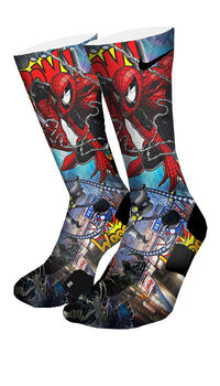 Spiderman 2 Custom Elite Socks - CustomizeEliteSocks.com - 4