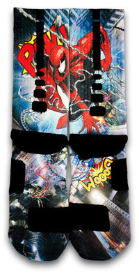 Spiderman 2 Custom Elite Socks - CustomizeEliteSocks.com - 2