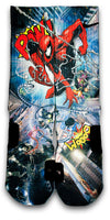Spiderman 2 Custom Elite Socks - CustomizeEliteSocks.com - 1