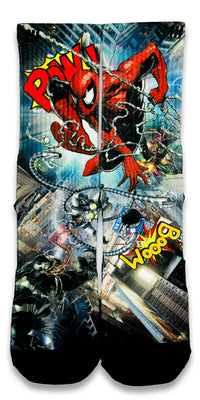 Spiderman 2 CES Custom Socks - CustomizeEliteSocks.com - 1