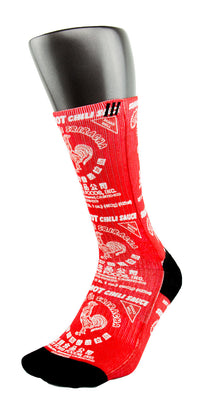 Sriracha CES Custom Socks - CustomizeEliteSocks.com - 3