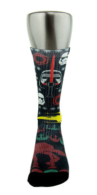 Star Wars Ugly Sweater CES Custom Socks - CustomizeEliteSocks.com - 2
