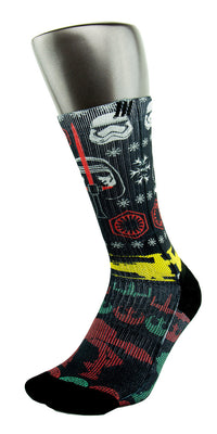 Star Wars Ugly Sweater CES Custom Socks - CustomizeEliteSocks.com - 3
