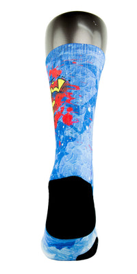 Superman CES Custom Socks - CustomizeEliteSocks.com - 4