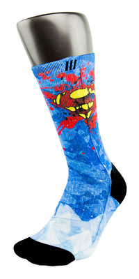 Superman CES Custom Socks - CustomizeEliteSocks.com - 3