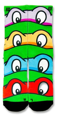 TMNT CES Custom Socks - CustomizeEliteSocks.com - 1
