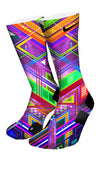 The Purple Grid Custom Elite Socks - CustomizeEliteSocks.com - 4
