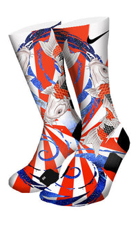 The Rising Koi Custom Elite Socks - CustomizeEliteSocks.com - 4