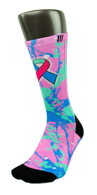 Thyroid Cancer CES Custom Socks - CustomizeEliteSocks.com - 3