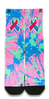 Thyroid Cancer CES Custom Socks - CustomizeEliteSocks.com - 1