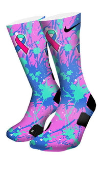 Thyroid Cancer Custom Elite Socks - CustomizeEliteSocks.com - 4