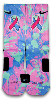 Thyroid Cancer Custom Elite Socks - CustomizeEliteSocks.com - 1