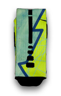 Turbo Green Hero Custom Elite Socks - CustomizeEliteSocks.com - 1