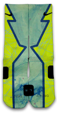 Turbo Green Hero Custom Elite Socks - CustomizeEliteSocks.com - 2