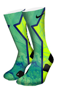 Turbo Green Hero Custom Elite Socks - CustomizeEliteSocks.com - 4