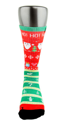 Ugly Christmas Sweater CES Custom Socks - CustomizeEliteSocks.com - 2