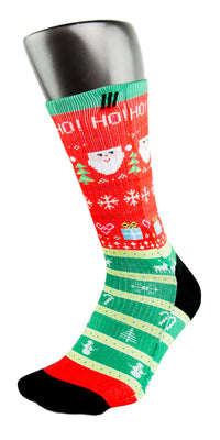Ugly Christmas Sweater CES Custom Socks - CustomizeEliteSocks.com - 3