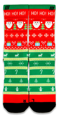 Ugly Christmas Sweater CES Custom Socks - CustomizeEliteSocks.com - 1