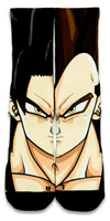 Vegeta CES Custom Socks - CustomizeEliteSocks.com